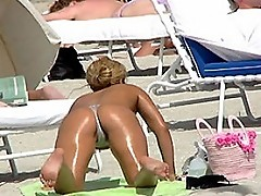 Split tail topless beach