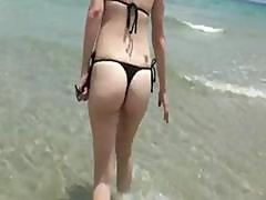 Amateur Brunette Babe In Bikini First Time Anal Drilling