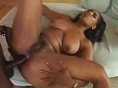 Ebony Bitch Sunshine Nibbles His Black Pole And Takes It In Her Fat Ass