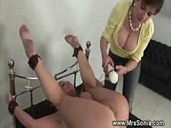 Domina gets rough with a blonde
