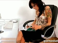 Deep down mouth fun with brunette and monster cock