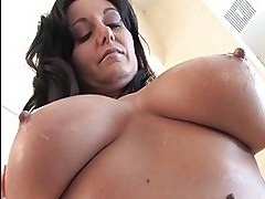 Luna and Danielle busty gorgeous lesbians playing with boobs