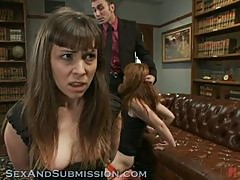 Sex Loving Babes Get A Bit Of fisting In Hot BDSM Threesome