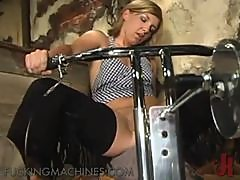 Hardcore Pounding For This Blonde Babe With A Sex Machine