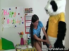 Toypanda helps unwrap horny birthday girl