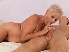 Granny cougar Cecily bangs virgin