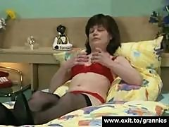 Hairy Granny Nance Fingering both holes