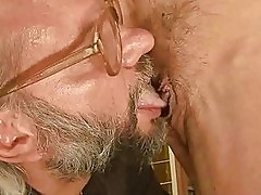 Hot grandma has sex with her old lover