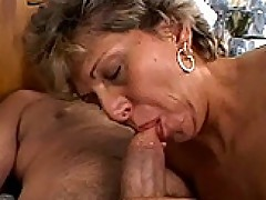 Tara - Grandma sucking cock and gets assfucked