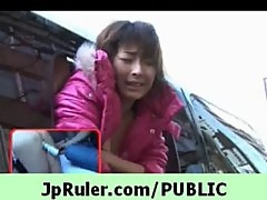 Japanese girl get fucked really hard in p ...