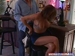 Amazing MILF facialized by younger guy