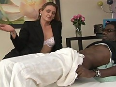 Horny milf is a black cock lover