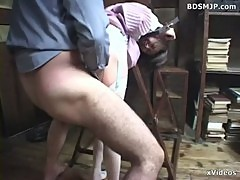 submissive maid bound and sex punished