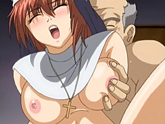 Hentai nun gets sucked bigcock and fucked by perverted priest