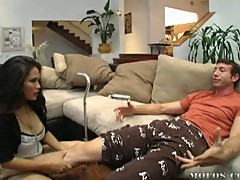 Hot asian house call nurse gets fucked by patient
