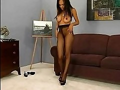 Hot pornstar loves wearing pantyhose