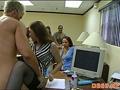 Stripper fucks office whore