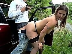 Big ass german - amateur outdoor
