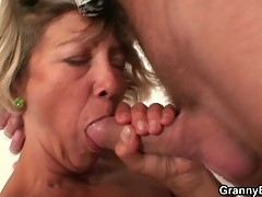 Horny guy fucks this sweet innocent grandma