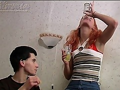 Drunk chick on cock