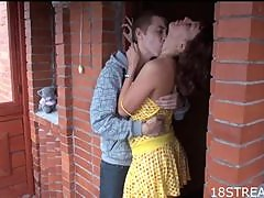 Nasty and Aleksandr Fuck In A Porch In Hardcore Scene