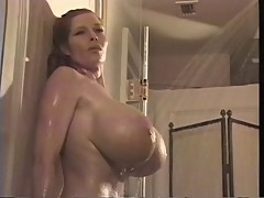 Teddi Barrett in the shower