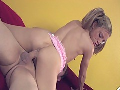 Skinny young blonde jenna james gets drilled in hd