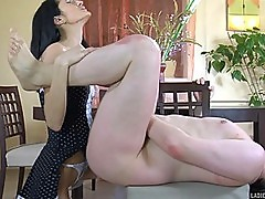 Brunette Maid Using a Strap On To Bang Her Boss Ass