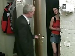 After kissing with handsome lad