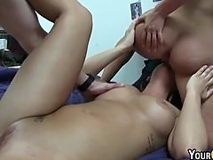 BFFs First Time College Threesome