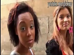 Ebony and asian students fucked for cash in their apartment
