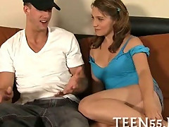 Teen student fucks with tutor
