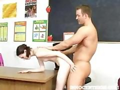 Skinny Teen Andrea Gets Fucked Hard On The Teacher's Desk