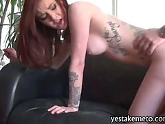 Redhead girlfriend drilled hard and creamy cumshot pov sex video
