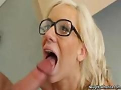Busty Blonde Schoolgirl Gives Her Teacher Some Lip Service And A Ride