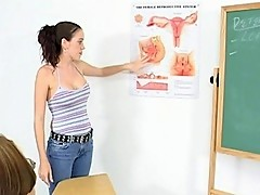 Nasty teacher lets student study her reproductive system