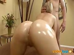Alexis Texas Has Her Nice Round Ass Oiled Up And Ready For Action