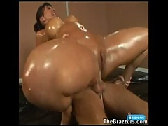 Ava Devine Covered in Oil
