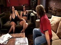 Gianna Michaels, Brunettes share cock