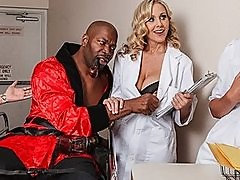 Busty blonde doctor Julia Ann is seduced by her patient