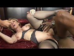 Nina Hartley sex with two big cocks