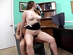 Pornstar Rucca Page slamming her warm snatch up and down a m...