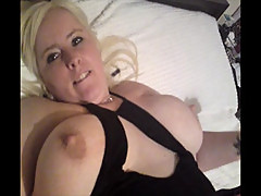 Scottish slut Natasha Fife playing with her big tits and fingering pussy