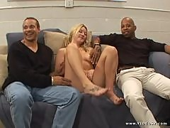 Cute Blonde Cant Get Enough Black Cocks