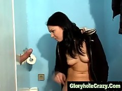 Gloryhole toilet cum in mouth blowjob