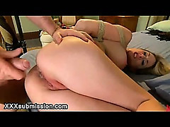 Huge tits tied up maid fucked by huge dick in hotel