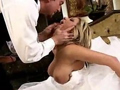 Beautiful bride taking cock on her wedding day