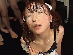 Hot Japanese Nurse Bukkake