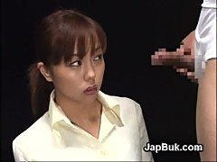 Cute Japanese girl gets cum in her mouth ...
