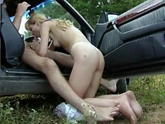 Russian girl bj in car